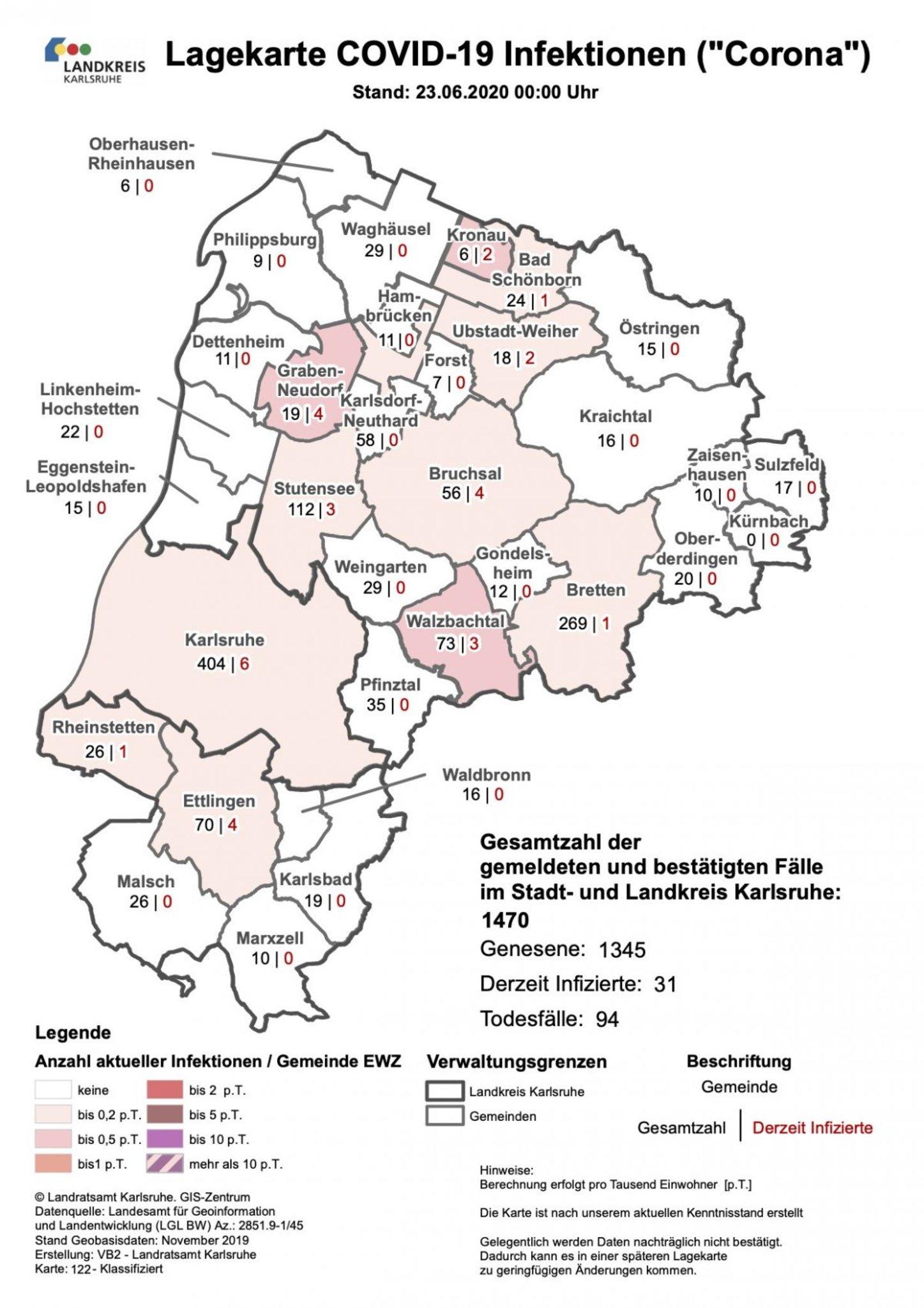Stadt Karlsruhe Corona