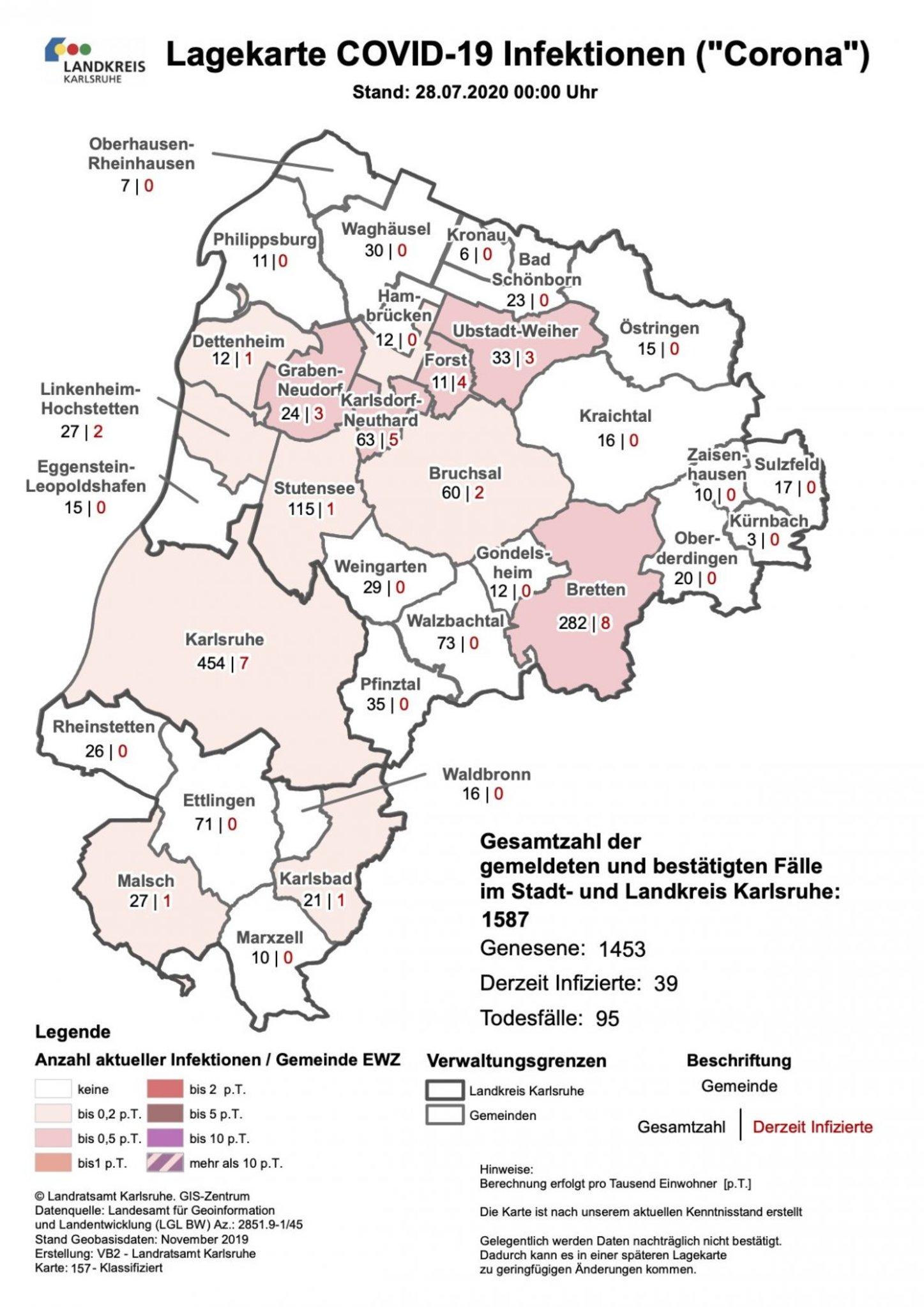 Coronavirus Landkreis Karlsruhe