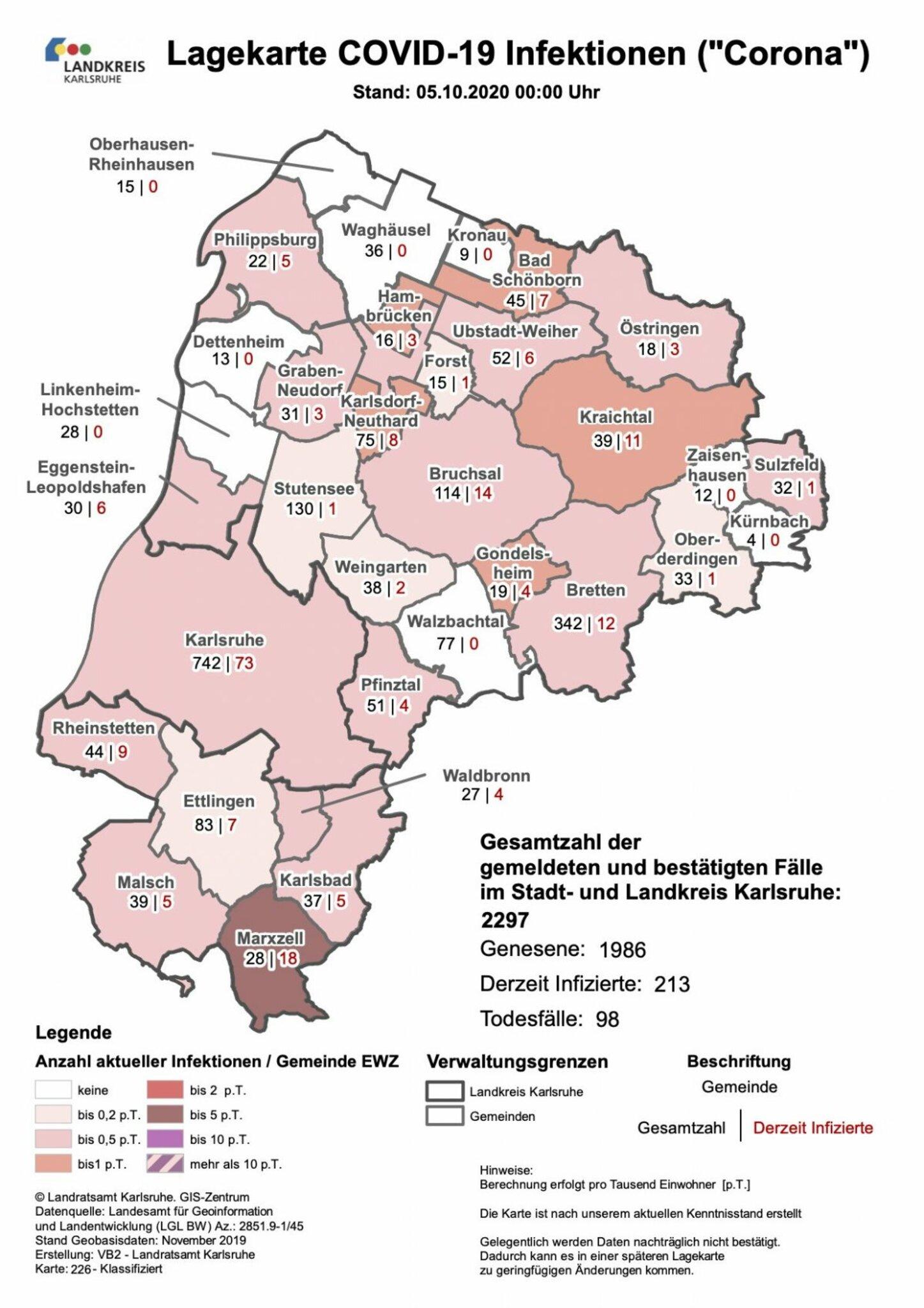 Landkreis Karlsruhe Coronavirus
