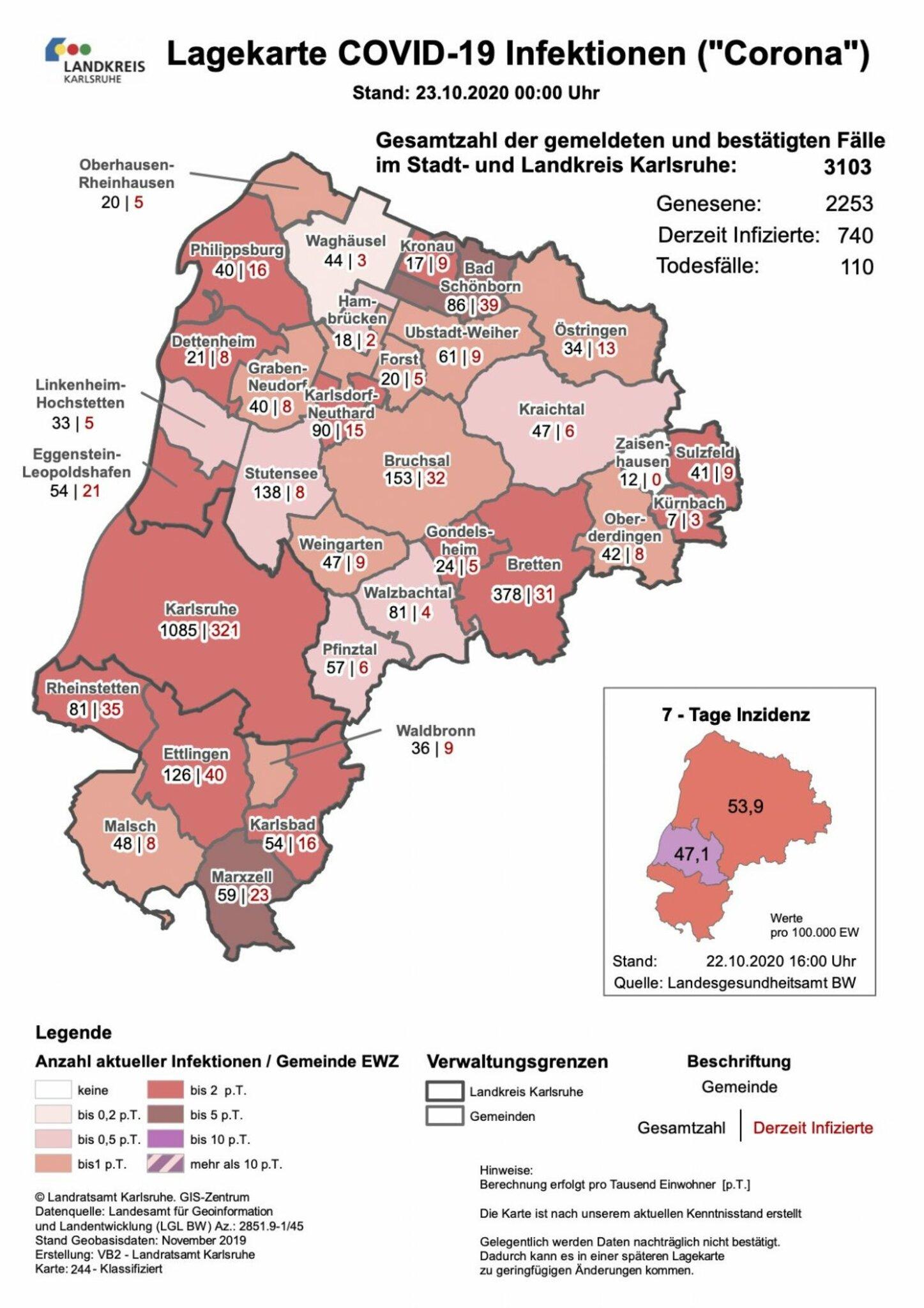 Neuinfektionen Baden Württemberg Karte